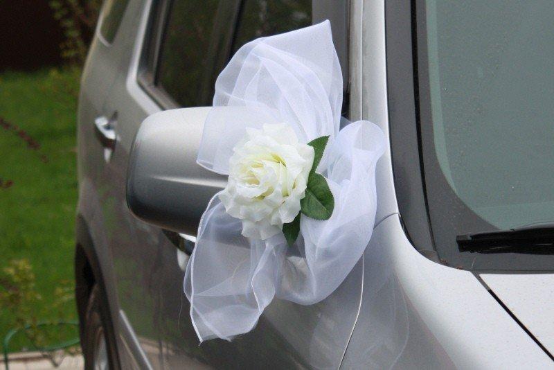 Свадебные украшения машины своими руками из органзы
