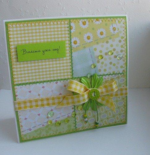 Сделать открытку с ситцевой свадьбой своими руками, крещением
