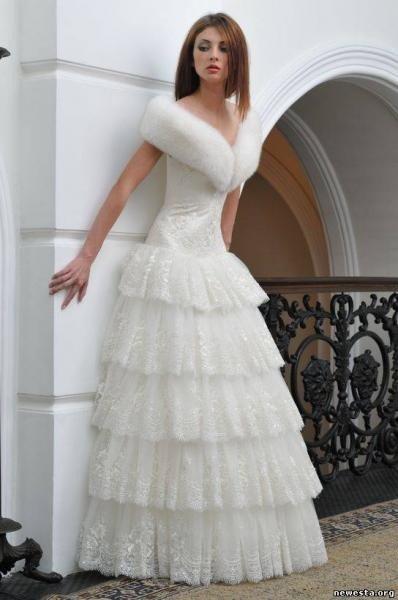 Свадебные фото платья зимние