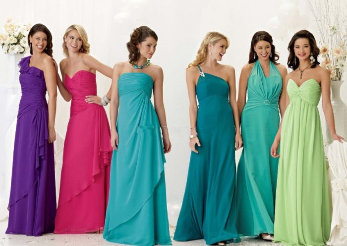 Вечерние платья для подружек невесты фото