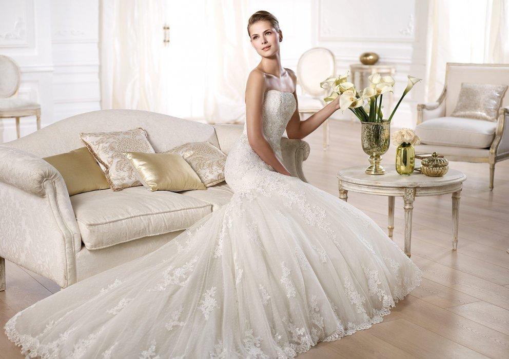 b62c718a10c77b7 Свадебные платья Pronovias. Коллекция Glamour 2014