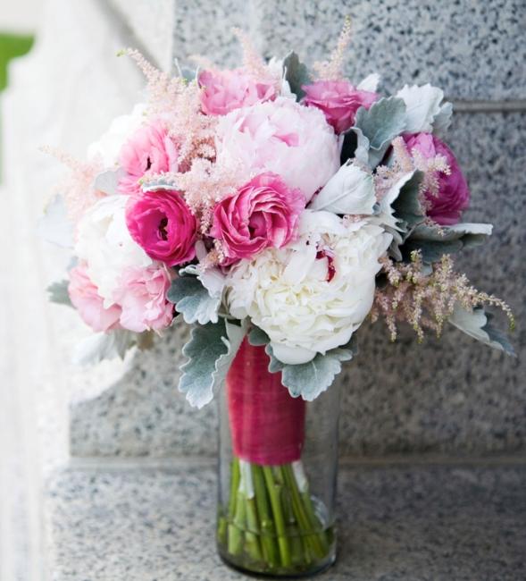 Цветы на розовую свадьбу, букет для невесты название цветов