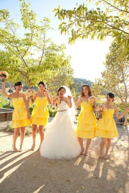 Фото желтая свадьба