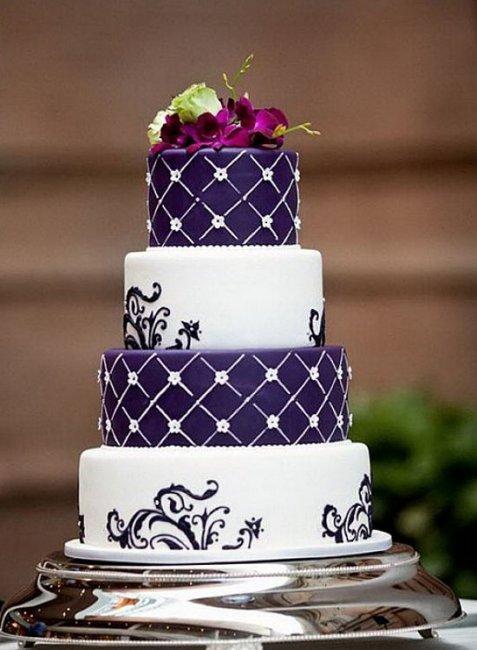 Свадебный торт фото в фиолетовом цвете фото