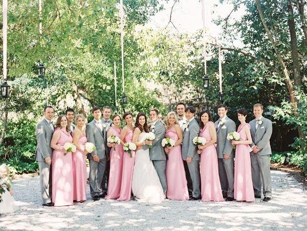 Свадьба в серо розовых тонах 43