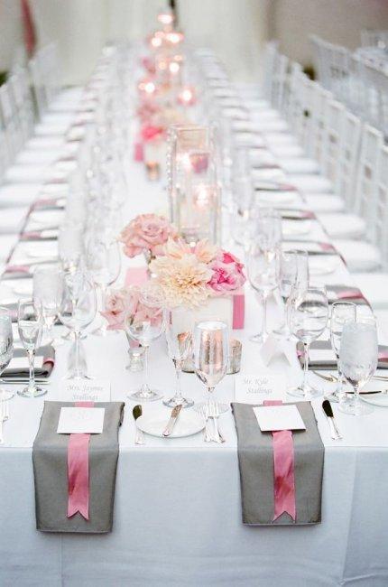 Свадьба в серо розовых тонах 68