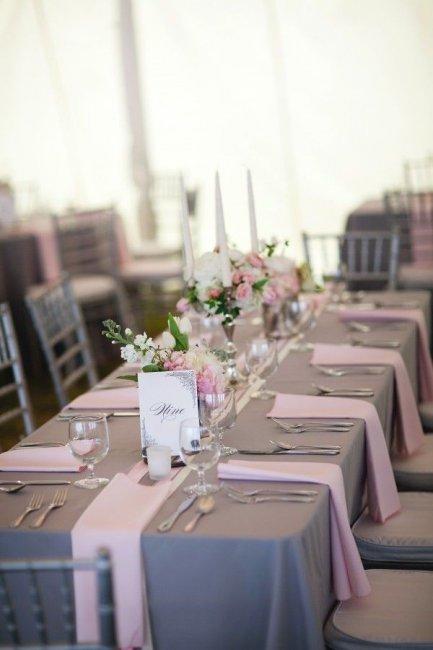 Свадьба в серо розовых тонах