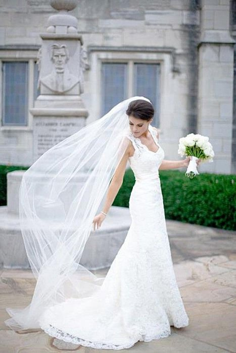 Образы невест 2017 с фатой