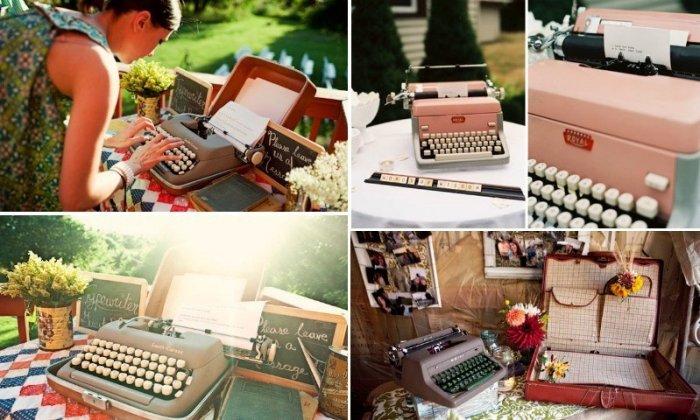 Печатная машинка на свадьбе