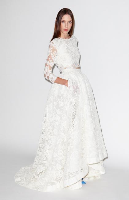 Свадебные платья из двух частей