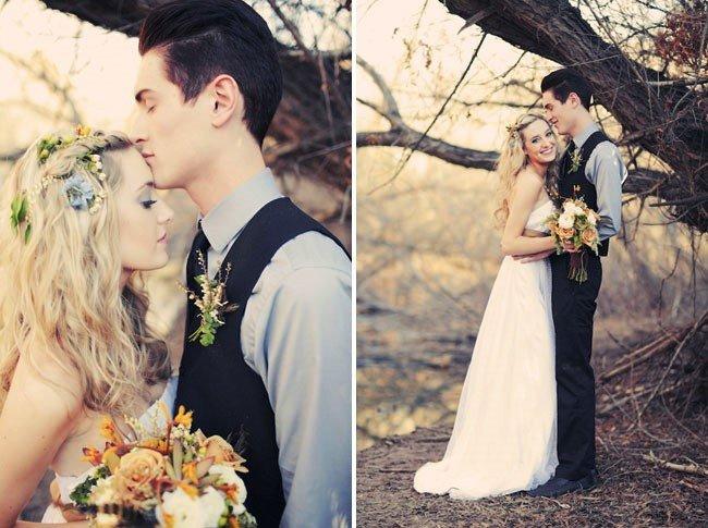 Образ молодоженов для лесной свадьбы