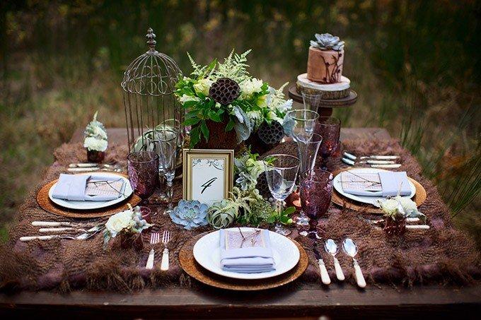 Декор свадьбы в теме леса