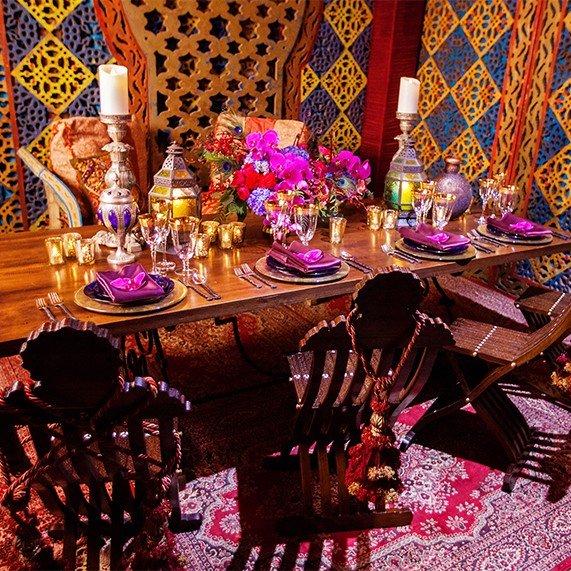 Декор свадьбы в стиле мультфильма Аладдин
