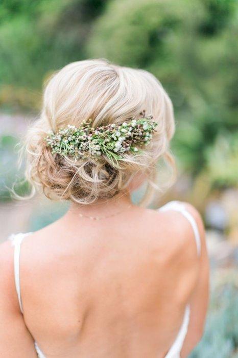 Прически свадебные фото с живыми цветами