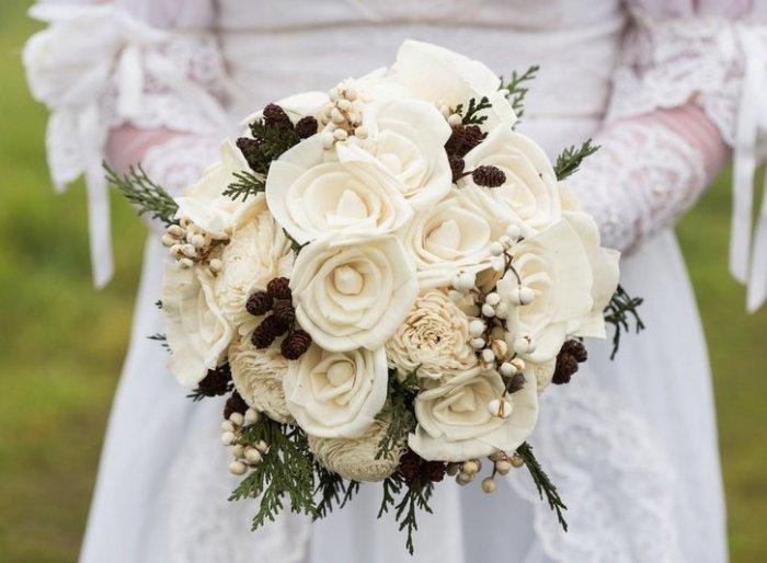 Зимний букет невесты: советы и идеи