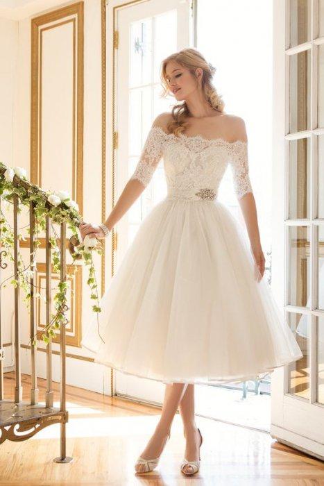 Короткие свадебное платье