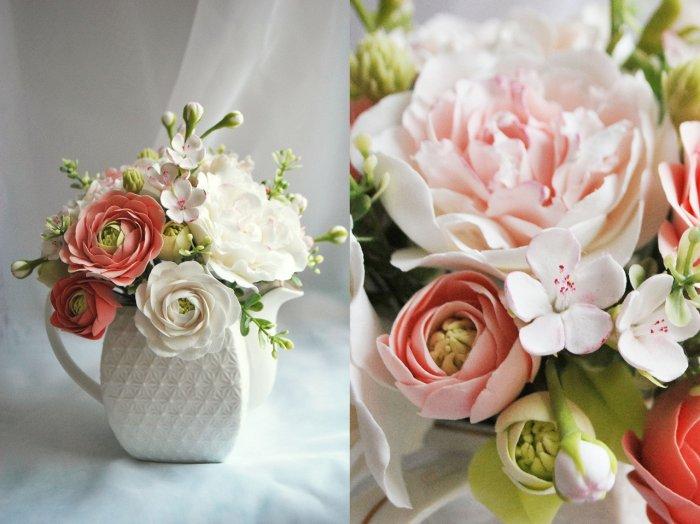Свадебный букет из фоамирана для невесты (фото и видео)