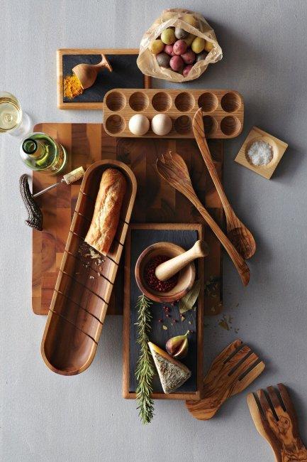Деревянная посуда в подарок на деревянную свадьбу