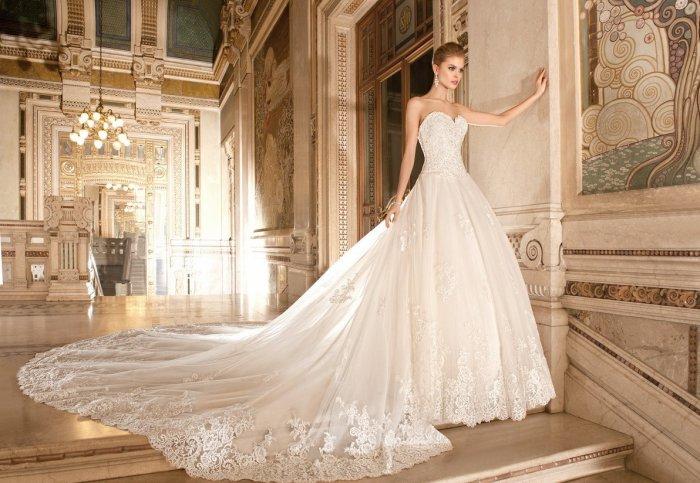 dbdd4c23d9e Красивые длинные свадебные платья  королевский образ на свадьбу (фото)