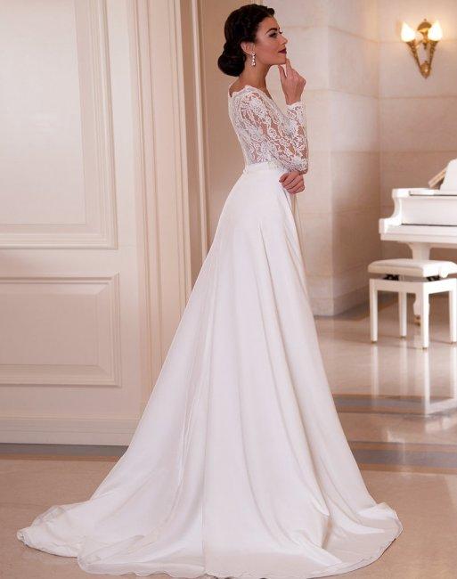 860712a5411fab6 Красивые длинные свадебные платья: королевский образ на свадьбу (фото)