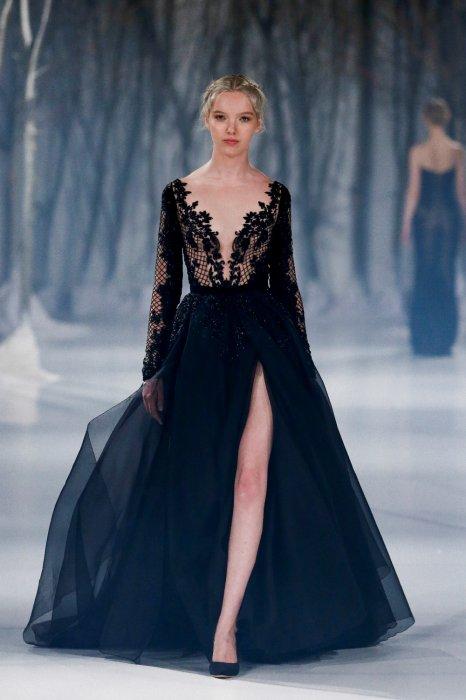 6650c8fce43 Черное свадебное платье  наряд для смелой невесты