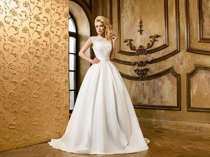 1d2d64f569fd6e2 Свадебные платья А-силуэта: кружевные, короткие, с рукавами (фото)