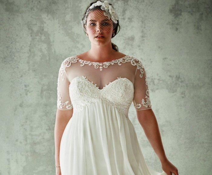 836163a9100 Свадебные платья для полных девушек  особенности