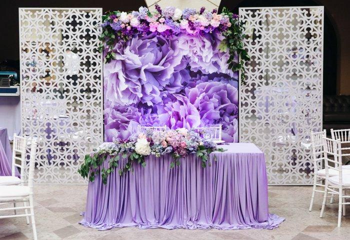 Лиловый цвет фото для свадьбы