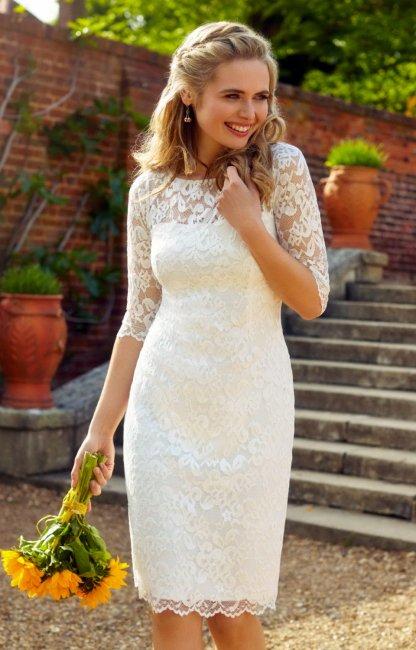 886c6efecaaa8e0 Короткое свадебное платье: советы по выбору (фото)