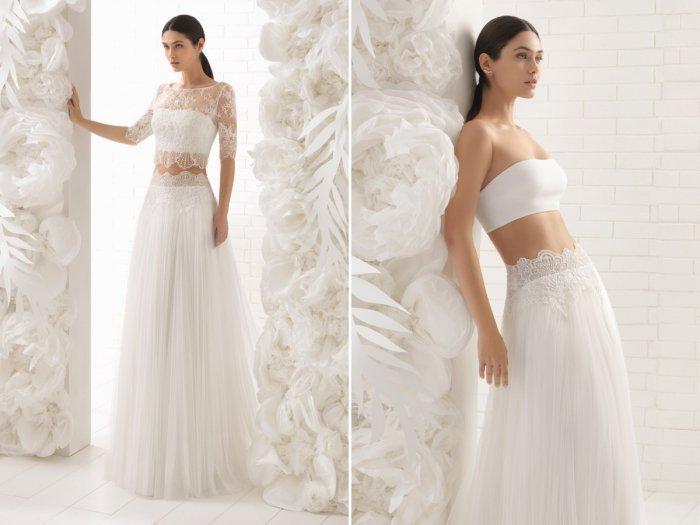 109ba4b31aac9ee Раздельные свадебные платья с топом и юбкой: как выбрать платье crop top