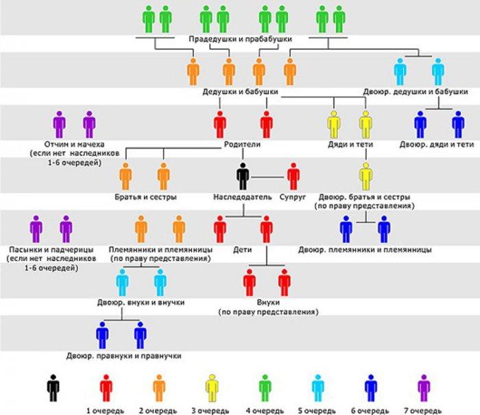 Схема кровного родства