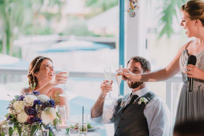 На свадебном банкете должны звучать самые искренние и позитивные пожелания