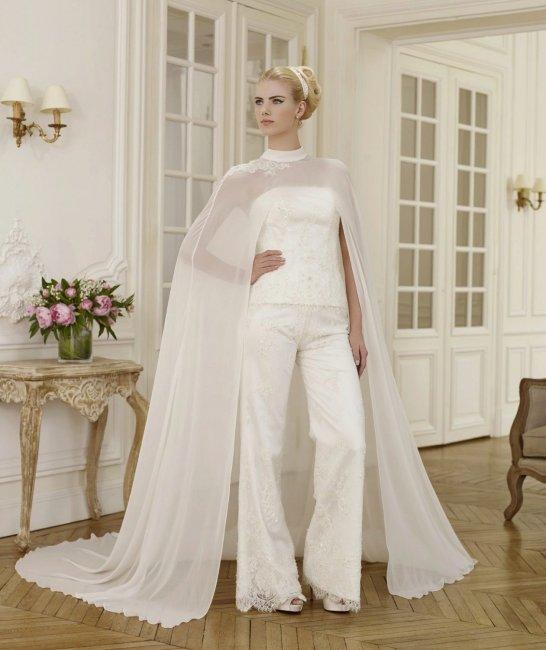 свадебный брючный костюм для невесты фото что