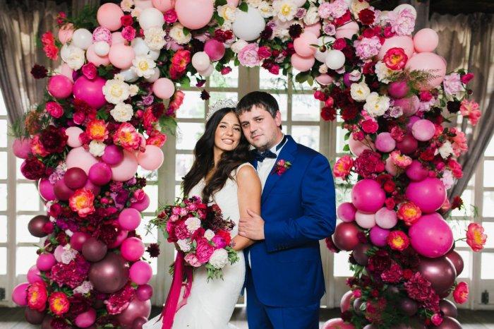 Декор свадьбы шарами воздушными
