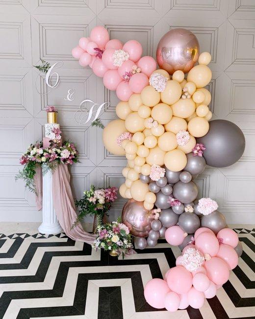 Декор фотозоны шарами