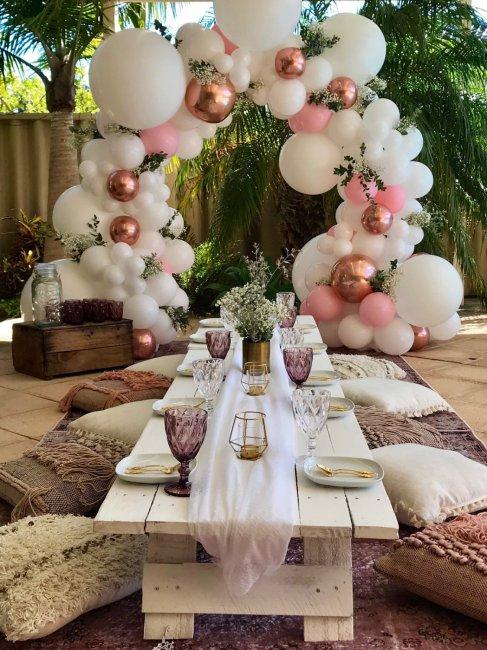 Оформление шарами свадьбы в стиле бохо