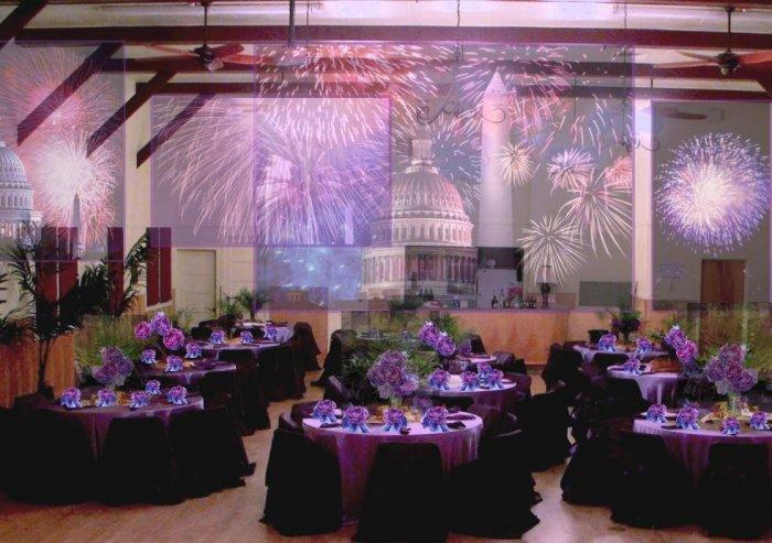 Свадебный зал фиолетовый