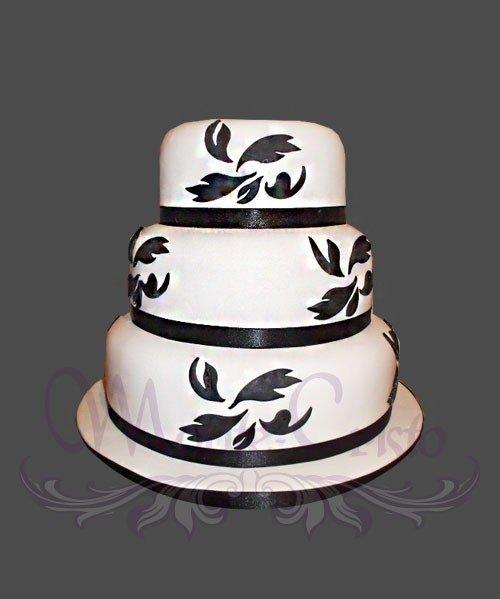 фото тортов свадебных одноярусных