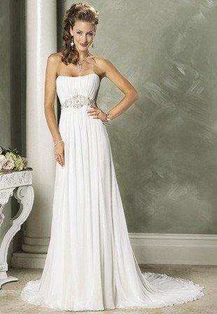 Свадебные длинные прямые платья