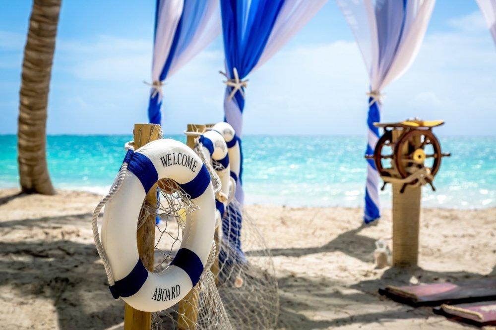 Свадебные картинки в морском стиле