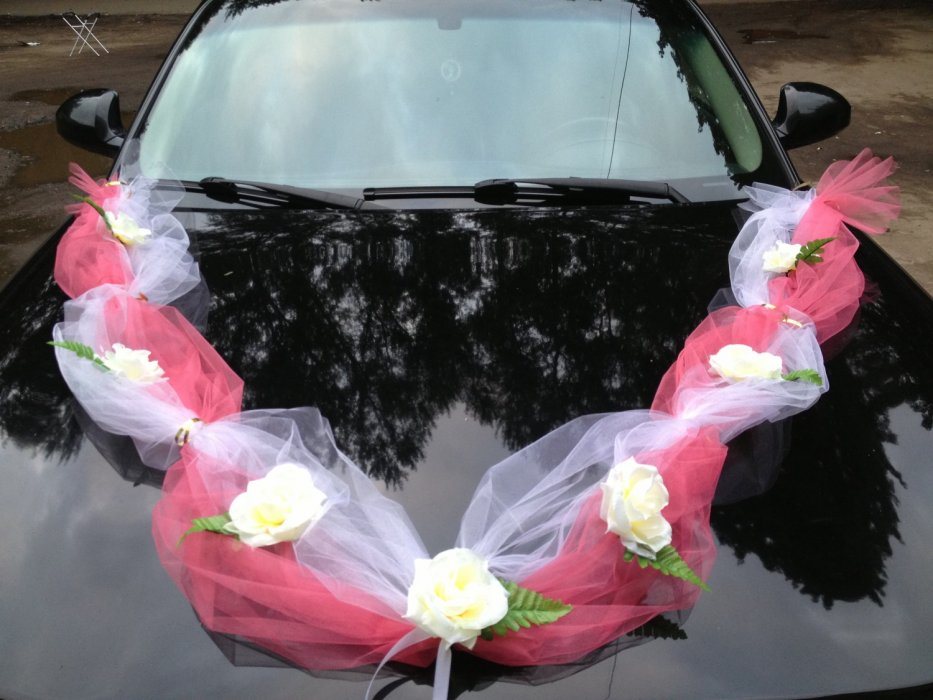 Свадебные машины картинки с лентами