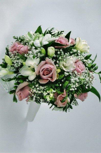 Букет класса люкс на свадьбу купить платье пепел розы