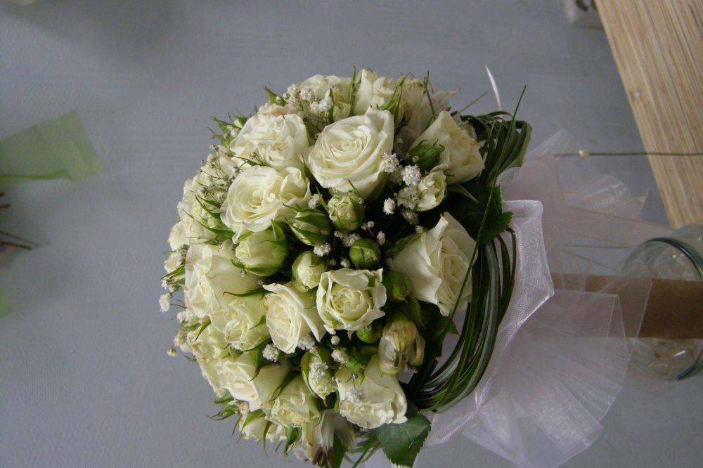 Красивый букет на свадьбу от родителей