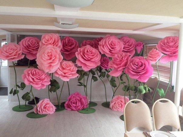 Фото большие цветы на свадьбе 13